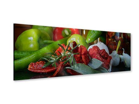 Acrylglasbild Panorama Mediterranes Gemüse
