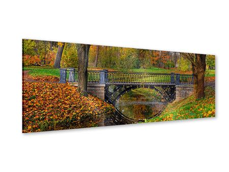 Acrylglasbild Panorama Romantischer Park