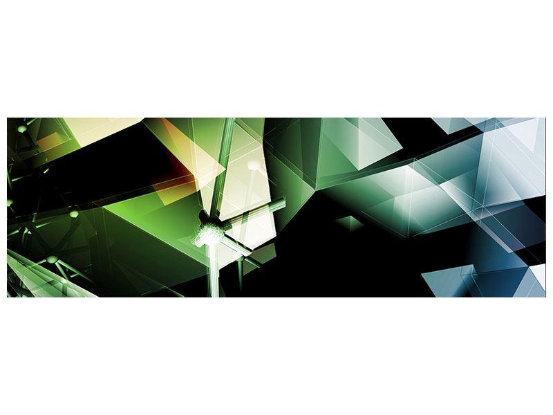 Acrylglasbild Panorama 3D-Polygon