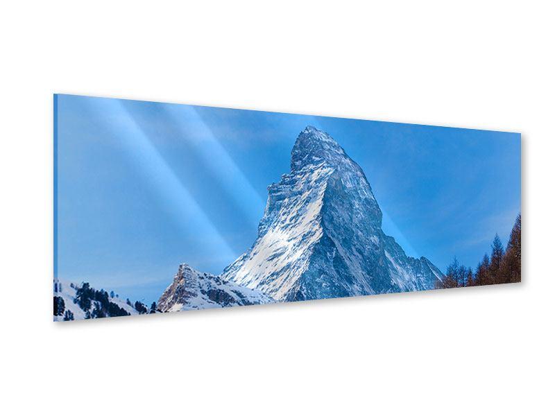 Acrylglasbild Panorama Das majestätische Matterhorn