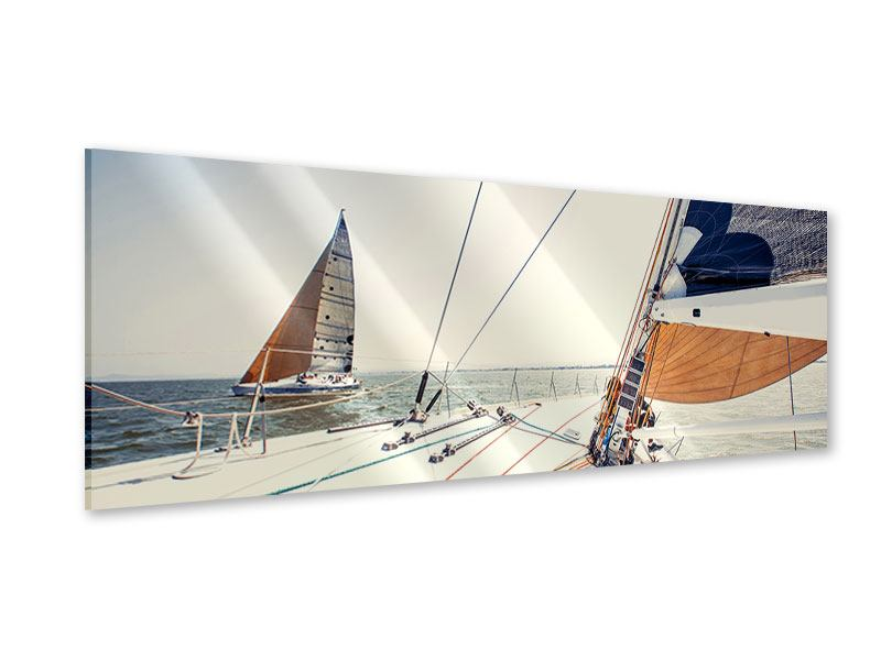 Acrylglasbild Panorama Segelyacht