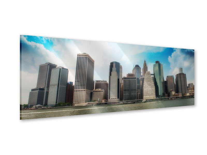 Acrylglasbild Panorama Skyline Lower Manhattan