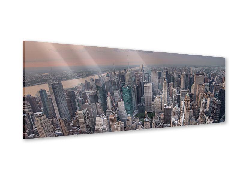 Acrylglasbild Panorama Skyline Blick über Manhattan