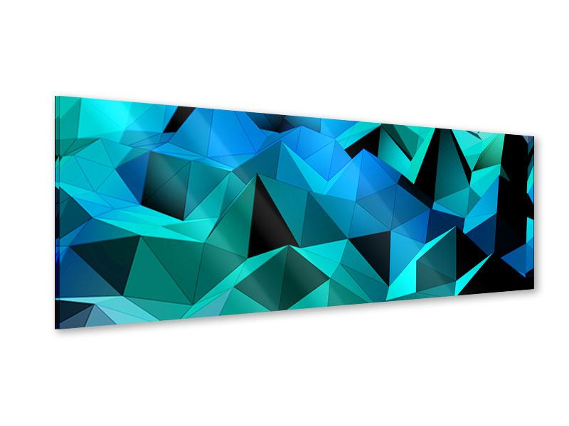 Acrylglasbild Panorama 3D-Diamonds
