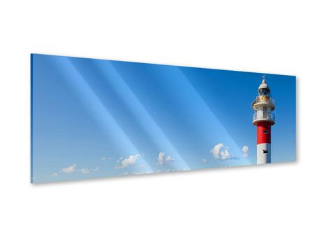 Acrylglasbild Panorama Leuchtturm in Punta Teno