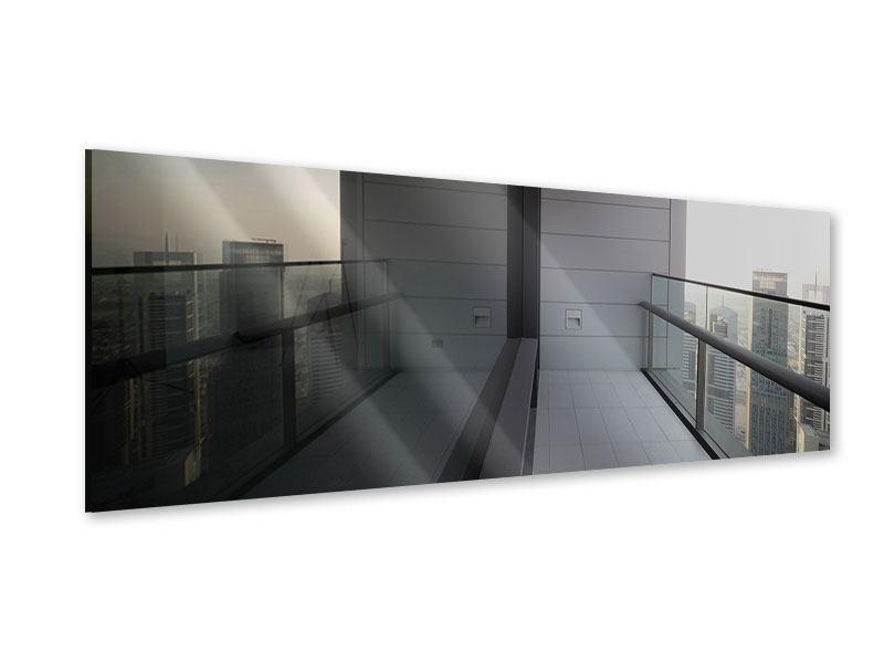 Acrylglasbild Panorama Balkon in Dubai