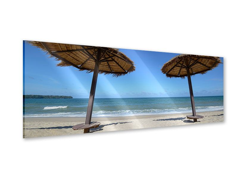 Acrylglasbild Panorama Umbrellas