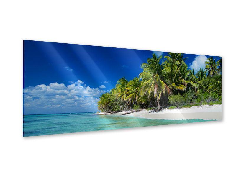 Acrylglasbild Panorama Die Trauminsel