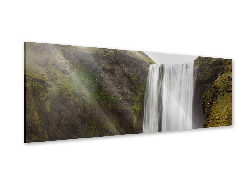 Acrylglasbild Panorama Skogafoss