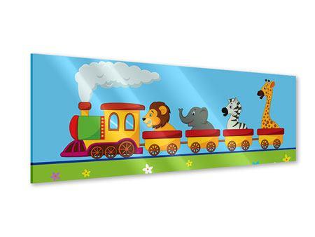 Acrylglasbild Panorama Tierische Eisenbahn
