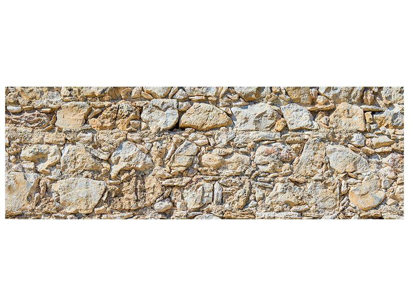 Acrylglasbild Panorama Sandsteinmauer