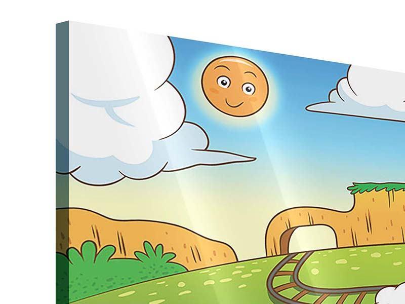 Acrylglasbild Panorama Zug Tiere