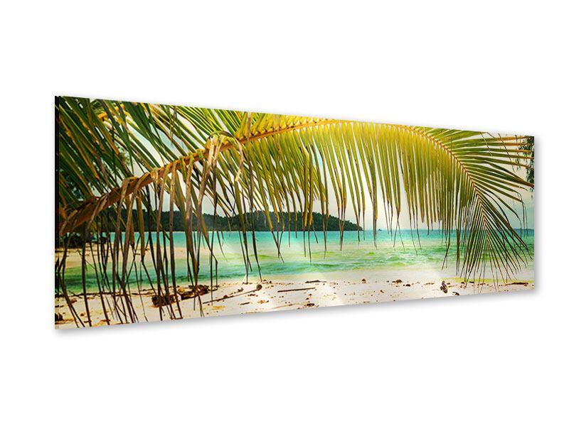 Acrylglasbild Panorama Ab in die Hängematte