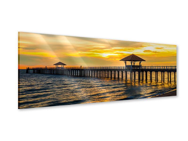 Acrylglasbild Panorama Brücke der Liebe