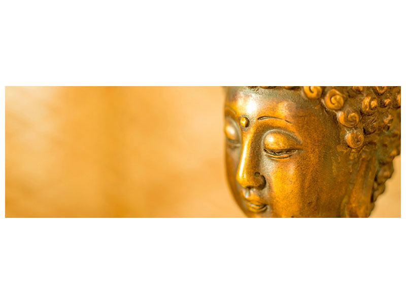 Acrylglasbild Panorama Buddha Kopf