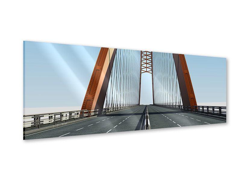 Acrylglasbild Panorama Brückenpanorama