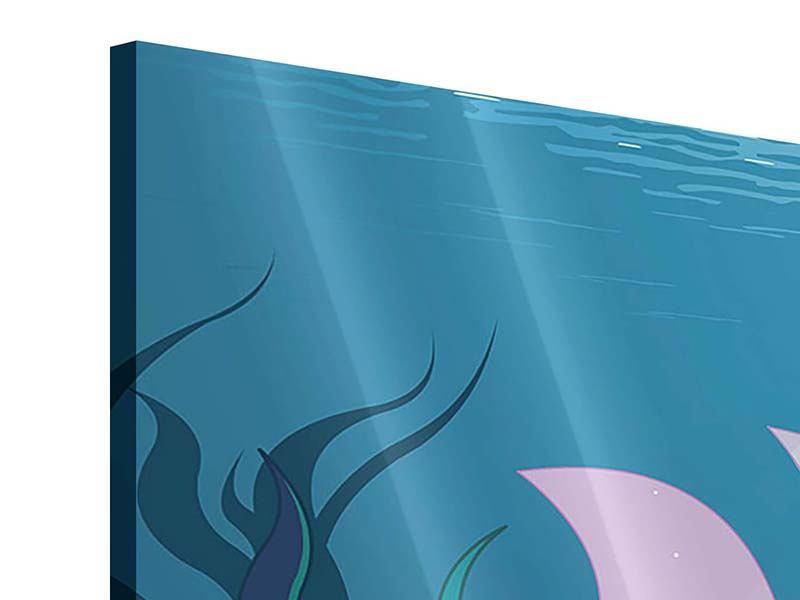 Acrylglasbild Panorama Die Meerjungfrau