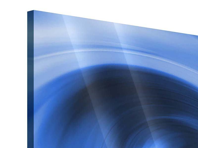 Acrylglasbild Panorama Abstrakte blaue Welle
