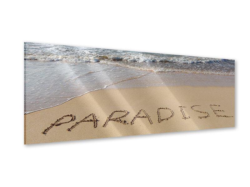 Acrylglasbild Panorama Sandspuren