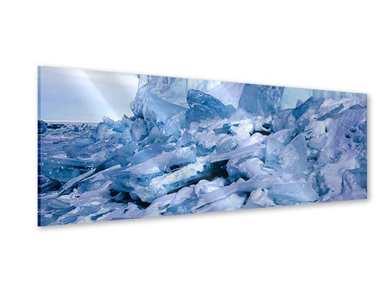 Acrylglasbild Panorama Eislandschaft Baikalsee