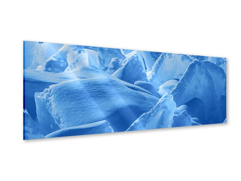 Acrylglasbild Panorama Eis des Baikalsees