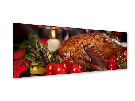 Acrylglasbild Panorama Köstliches Geflügel
