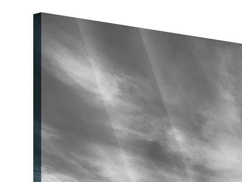 Acrylglasbild Panorama Strandyoga