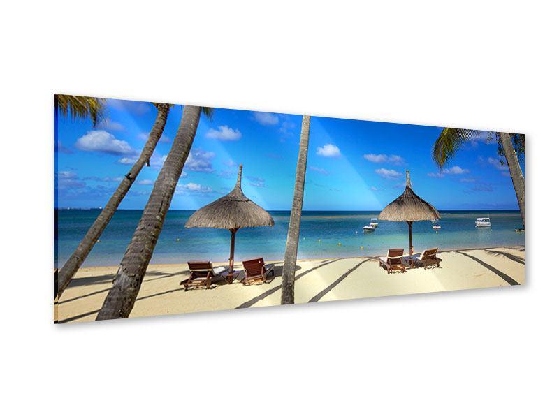 Acrylglasbild Panorama Mauritius