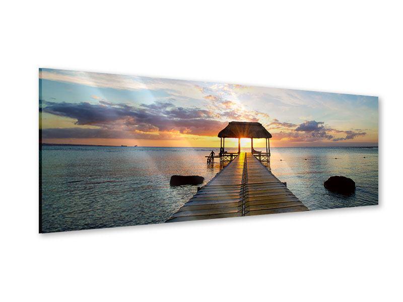Acrylglasbild Panorama Romantik auf Mauritius