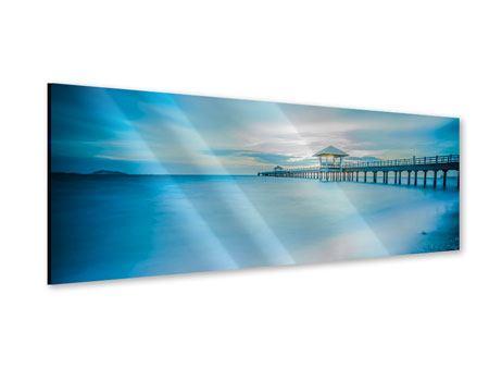 Acrylglasbild Panorama Brückenimpression