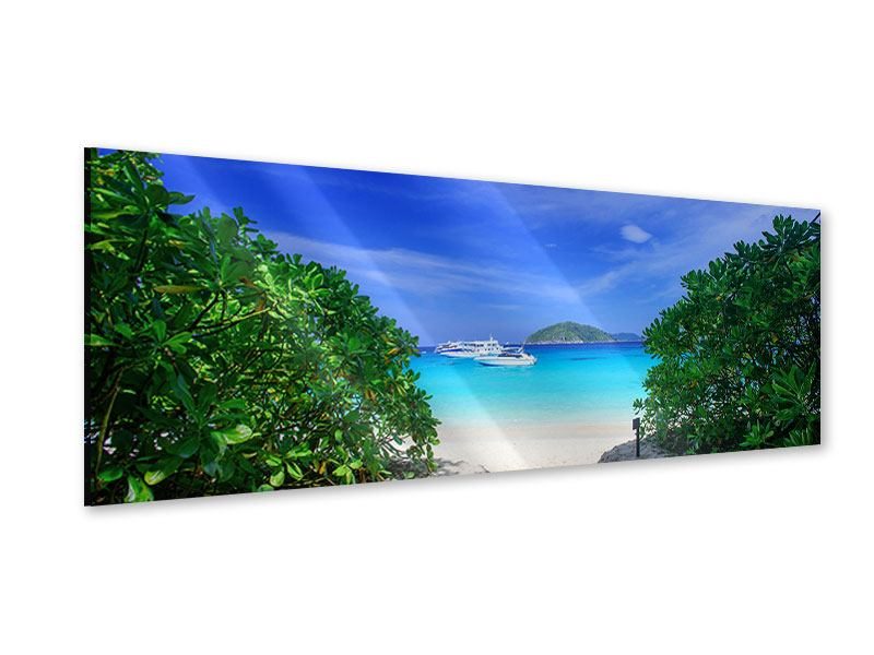 Acrylglasbild Panorama Similan-Inseln