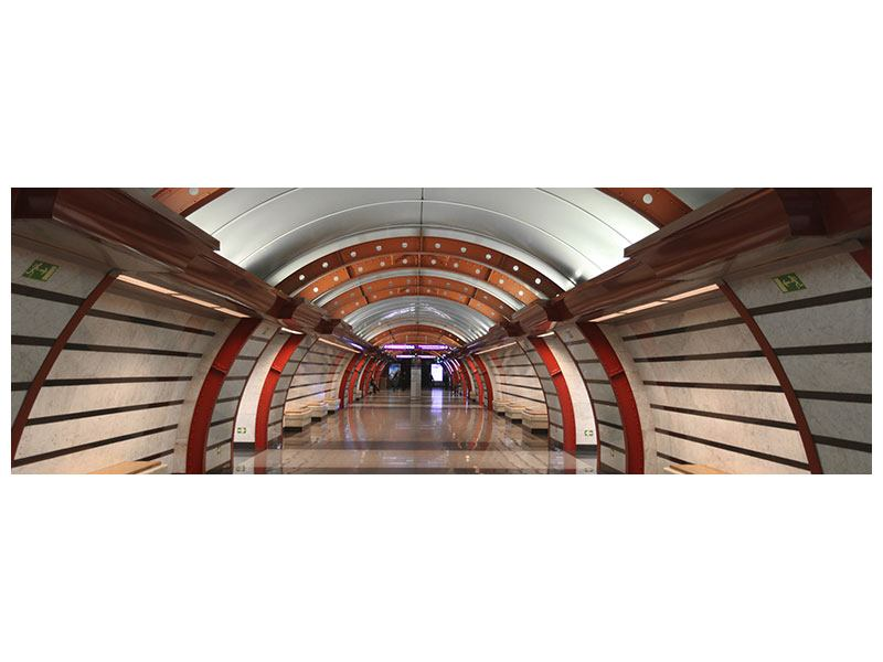 Acrylglasbild Panorama U-Bahn Station