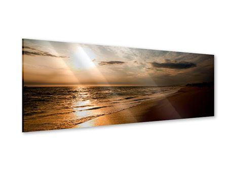 Acrylglasbild Panorama Strandspaziergang