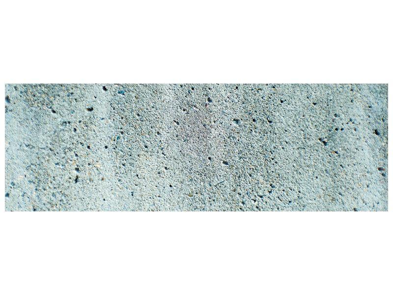 Acrylglasbild Panorama Beton in Grau