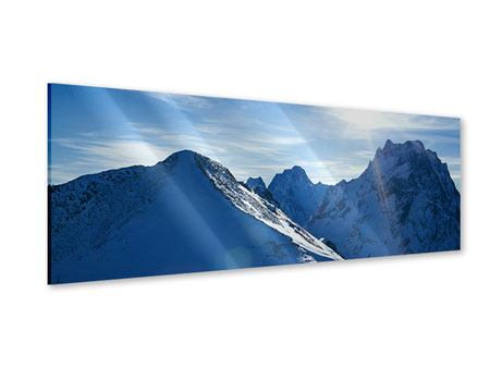 Acrylglasbild Panorama Der Berg im Schnee