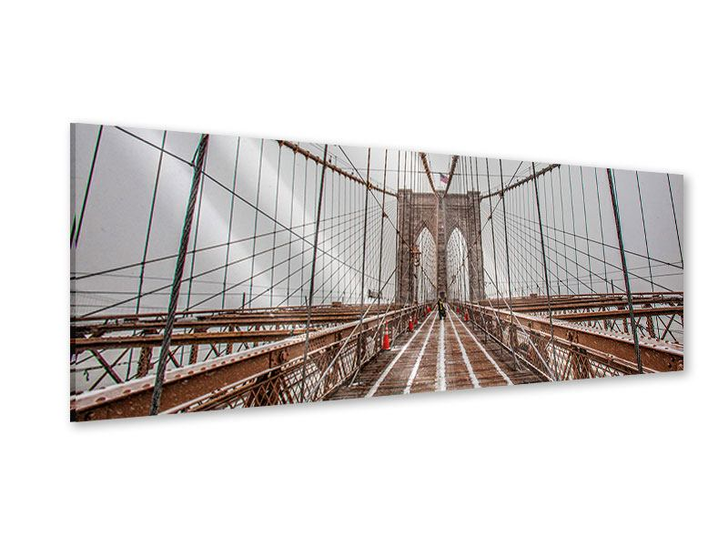 Acrylglasbild Panorama Auf der Brooklyn Bridge