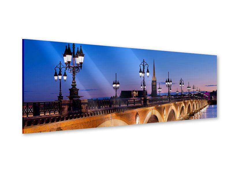 Acrylglasbild Panorama Pont De Pierre bei Sonnenuntergang