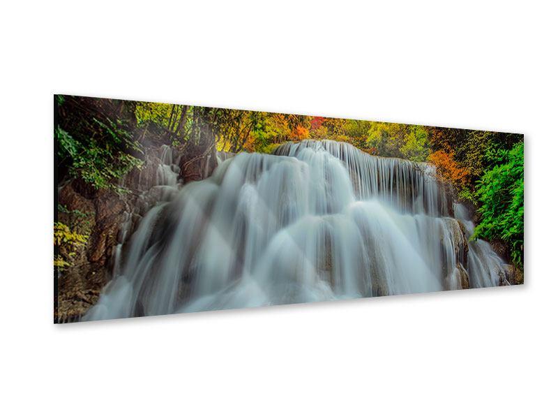 Acrylglasbild Panorama Fallendes Gewässer