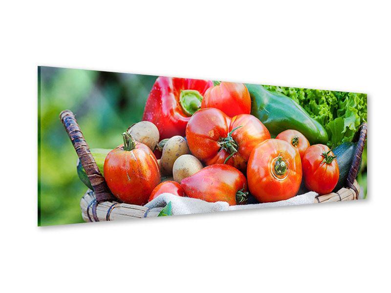 Acrylglasbild Panorama Gemüsekorb