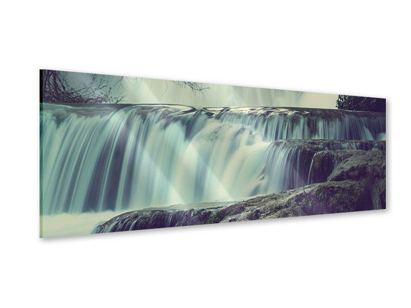 Acrylglasbild Panorama Wasserfall Mexiko