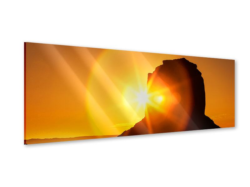 Acrylglasbild Panorama Sonnenuntergang Monument Valley