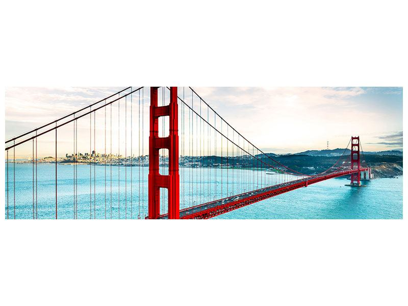 Acrylglasbild Panorama Golden Gate Bridge