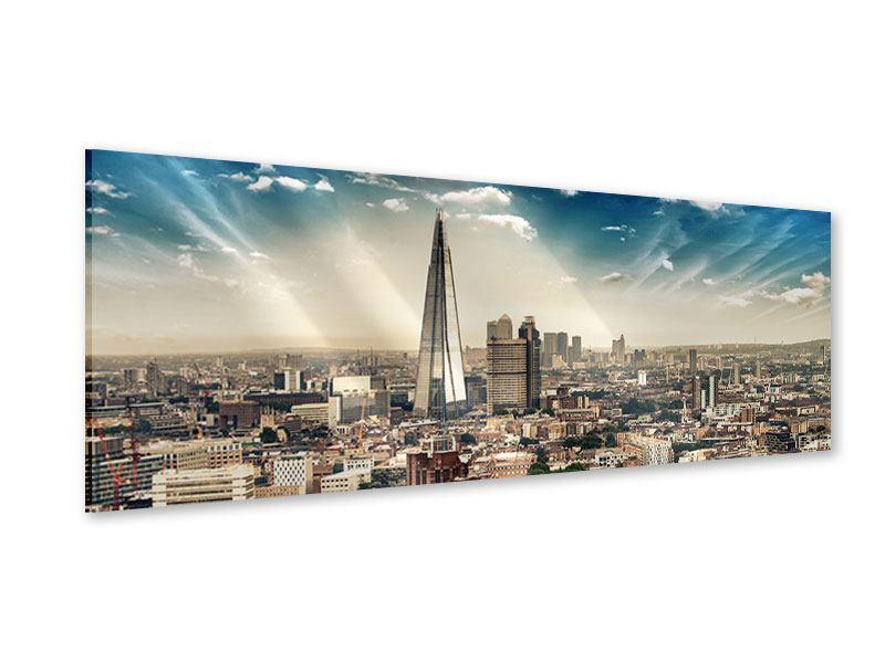 Acrylglasbild Panorama Skyline Über den Dächern von London