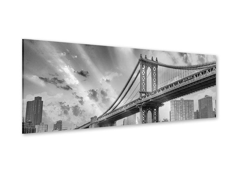 Acrylglasbild Panorama Manhattan Bridge