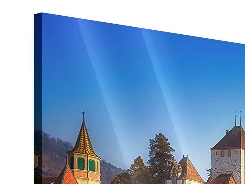 Acrylglasbild Panorama Schloss Oberhofen am Thunersee
