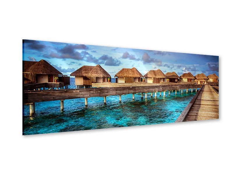 Acrylglasbild Panorama Traumhaus im Wasser