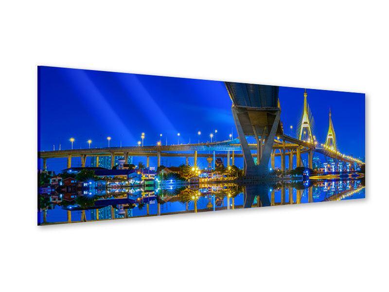 Acrylglasbild Panorama Bhumiboll-Brücke