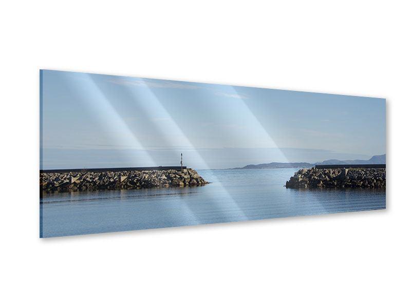 Acrylglasbild Panorama Hafenmauern