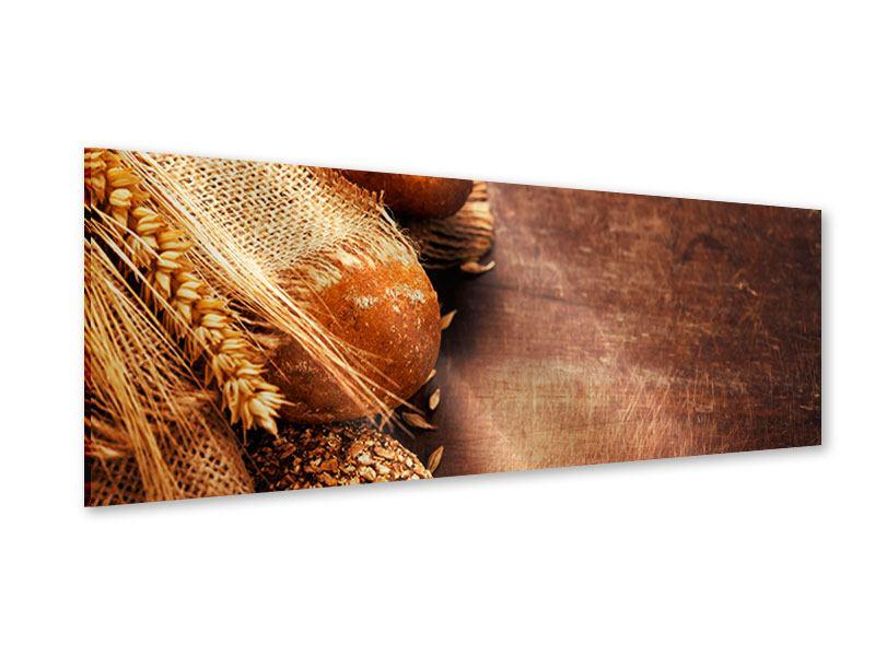 Acrylglasbild Panorama Frische Brote