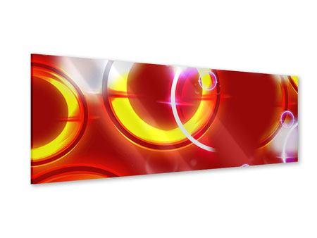 Acrylglasbild Panorama Abstraktes Retro